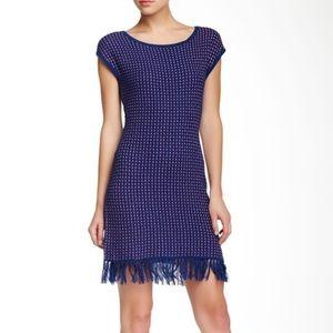 NWT Trina Turk Fringe Knit Dress